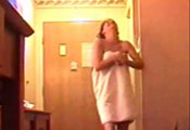 Watch video Whoops! Towel drop delivery
