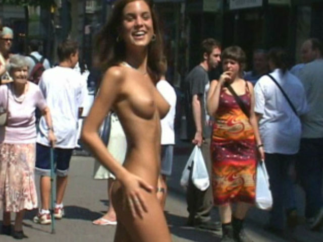 Watch video Shooting nude in public