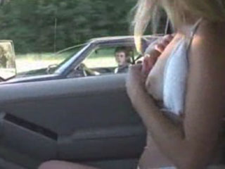 Watch video Girl asking a guy to come and play in car