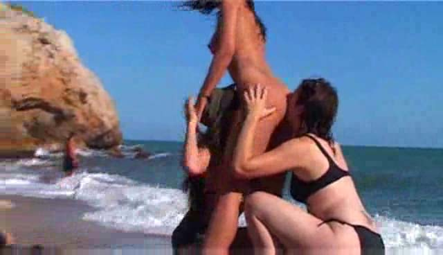Watch video French dykes lesbo bang on the beach
