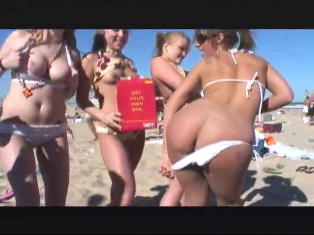 Watch video Spring break beach boobs and ass