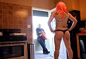 Watch video Panties Pizza Delivery
