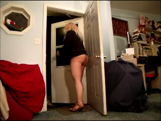 Watch video Pantyhose Pizza Delivered