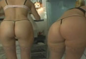 Watch video Room services round big asses
