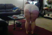 Watch video Chubby Tight Short Bending For Pizza