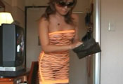 Watch video Orange see through, so hot!!