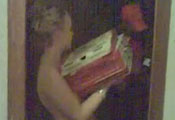 Watch video Teen topless delivery